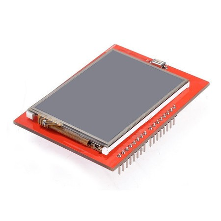 "Display LCD TFT 2.4"" Touchscreen Shield para Arduino"